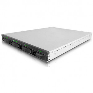 Enhance Technology EnhanceRACK R4 PM 1U 4-Drive Rackmount SATA-to-Port Mutiplier Storage Enclosure, w/ 150W Power Supply.