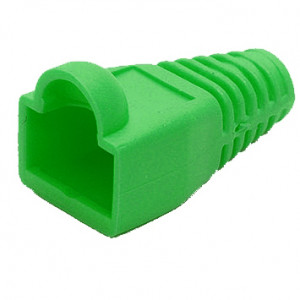Green RJ45 Snagless Boots for RJ45, Model: RJ45SB-GRN