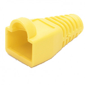 Yellow RJ45 Snagless Boots for RJ45, Model: RJ45SB-Yellow