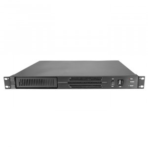 Black Athena Power RM-1U100D408 Aluminum/Steel 1U Rackmount Server Case