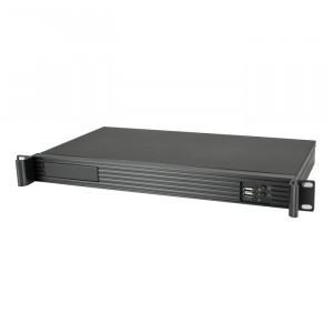 Black Athena Power 1U Rackmount Server Case RM-1U122ITXH2122, Front USB2.0, 2 x 40mm Fans, w/ AP-MFA