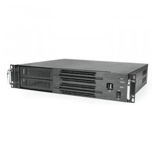 Black Athena Power RM-2U200H Aluminum/Steel 2U Rackmount Server Case