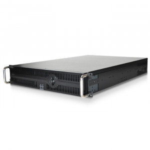 Black Athena Power RM-2U264L6R 1.2mm Steel 2U Rackmount Server Case, 4x 5.25in Drive Bays, 4x 80mm F