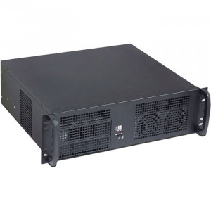Athena Power RM-3U3035S608 3U Rackmount Server Case (Black), 600W Micro PS3 Power Supply, 2x 5.25in Drive Bays, 2x 80mm Fans.