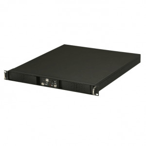 Athena Power RM-DD1U12A32H30 Aluminum / Steel 1U Rackmount Server Case (Black), Front USB 2.0, 4x 40