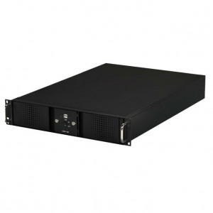 Athena Power 2U Rackmount Server Case (Black), 4 x 5.25in External Bay & Dual Locking Bezels, w/ Fil