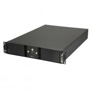 Athena Power RM-DD2U24E808 2U Rackmount Server Case (Black), 4 x 5.25in External Bay & Dual Locking