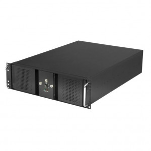 Athena Power 3U Rackmount Server Case (Black), 6 x 5.25in External Bay & Dual Locking Bezels, w/ Fil