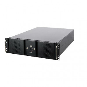 Athena Power RM-DD3U36E808 3U Rackmount Server Case (Black), 6 x 5.25in External Bay & Dual Locking