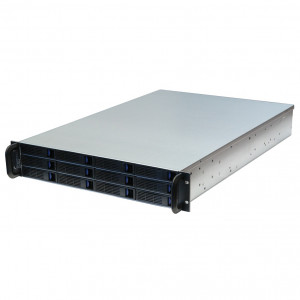 Norco RPC-2212 2U Rackmount Server Case w/ 12x 3.5-inch Hot-Swappable SATA/SAS Drive Bays.