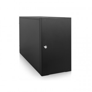 Black iStarUSA Compact Stylish 7x 5.25-in Bay mini-ITX Tower S-917