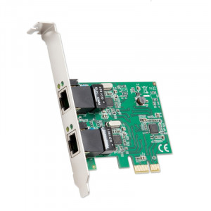 Syba SD-PEX24041 2-port Gigabit Ethernet PCIe x1 Card