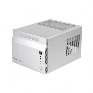 Silver SilverStone SST-SG06S-USB3.0 Aluminum/SECC Mini-ITX Computer Case, w/ 80 Plus Certified SFX 300W PSU and 120mm Fan.