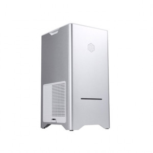 Silver SilverStone Fortress Series Aluminum Micro ATX Computer Case SST-FT03S