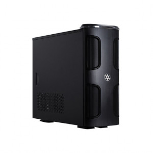 Black SilverStone Kublai Series Aluminum Mid-Tower Computer Case SST-KL03B, Tool-less Design, w/ 2 x 120mm Fans, Front USB and IEEE1394.