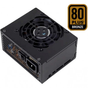 Black SilverStone 450W SFX12V Computer Power Supply ST45SF