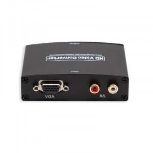 Syba SY-ADA31049 VGA DB15 + Stereo RCA High-Definition Video Audio to HDMI 1.3 Converter Box