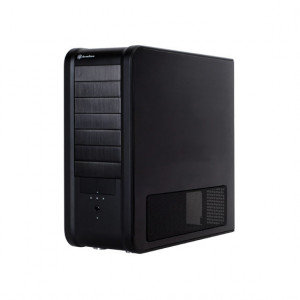 Black SilverStone Aluminum ATX Full Tower Computer Case TJ07B, w/ 120mm Fans.