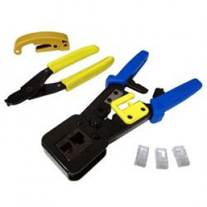 EZ-RJPRO HD Convenience Pack with EZ-RJPRO HD Ratchet Crimp Tool, EZ-RJ45 Connectors, Model: TL6-319