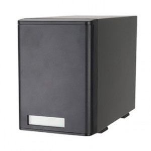 Black Silverstone Teratrend TowerStor Aluminum / SECC 4-bay 3.5in SATA USB3.0 and eSATA HDD RAID Storage Enclosure