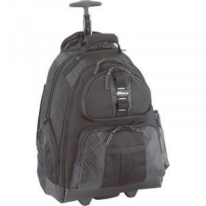 Black Targus Rolling Laptop Backpack, for 15.4-inch Notebooks, Model: TSB700.