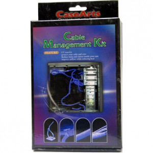 UV Cable Management Kit, Spiral Wrap, Cable Ties, Wire Mount