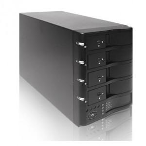 Black iStarUSA RaidAge 4-Bay Trayless eSATA RAID Box V7AGE420-ES