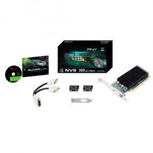 PNY VCNVS300X16-PB Quadro NVS 300 512MB PCI Express 2.0 x16 Low Profile Workstation Video Card