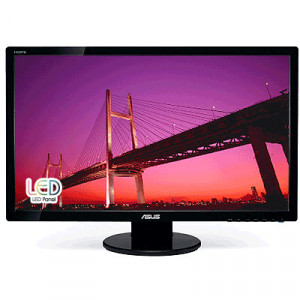 Black ASUS 27in Full HD 1080p LED Computer LCD Monitor VE278Q