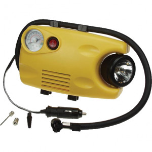 Velleman Air Compressor (116 psi) with Gauge and Work Light, Model: VTAC1