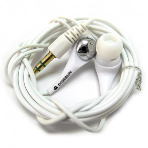 White Noise-isolating Headphone Earbuds for MP3 Players & Mobile Phones