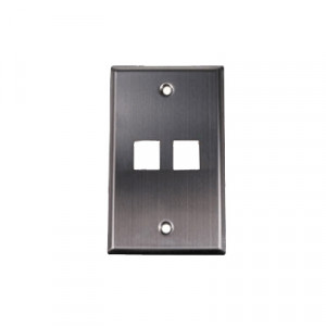 2-Port Stainless Steel Keystone Wall Plate WP10-5814/SG2P/SS