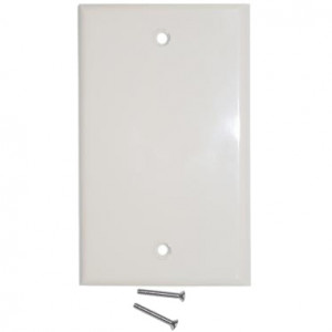 Blank Wall Plate Cover, Color: Ivory