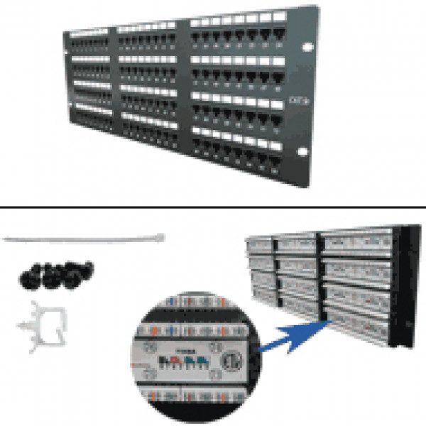 CAT5E 96-Port 110-IDC Patch Panel