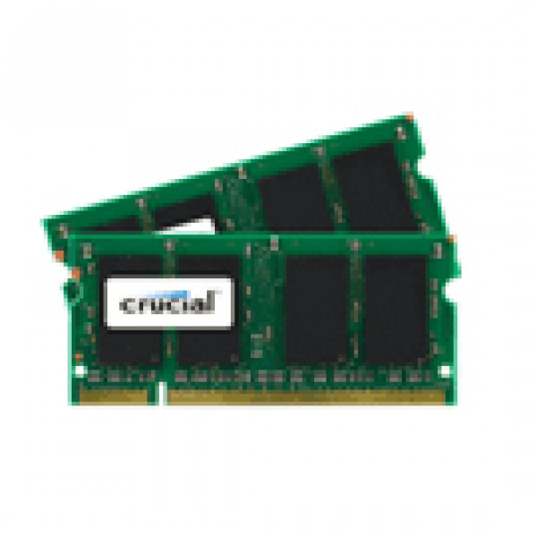 Crucial 8GB (4GBx2) DDR2 667 (PC2-5300) 200-Pin Dual Channel Kit Laptop Memory