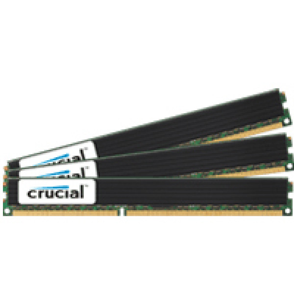 Crucial 12GB (4GBx3) DDR3 1333MHz (PC3-10600) 240-Pin Triple Channel Server Memory