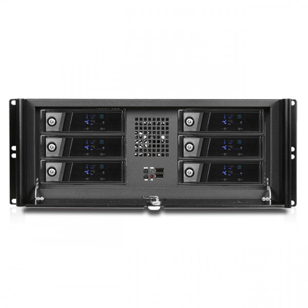 iStarUSA D-416-BX6 4U Stylish Hotswap Trayless 3.5in HDD Rackmount Chassis