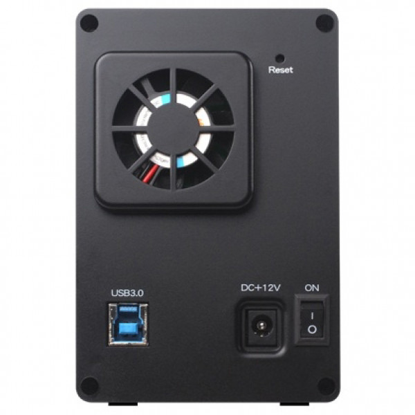 Black SilverStone DS322B Aluminum 3.5in SATA to USB 3.0 Dual Bay HDD External Enclosure
