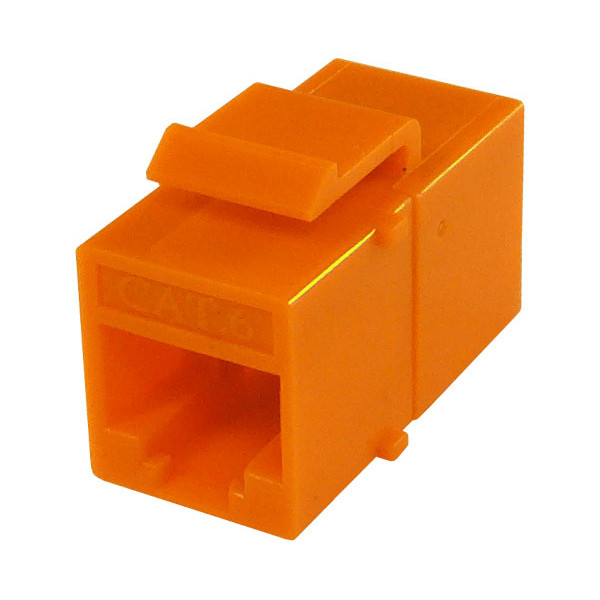 Primus Cable K65-4183-CJ-OR CAT6 Inline Coupler, Unshielded, Snap-In w/Latch, Orange