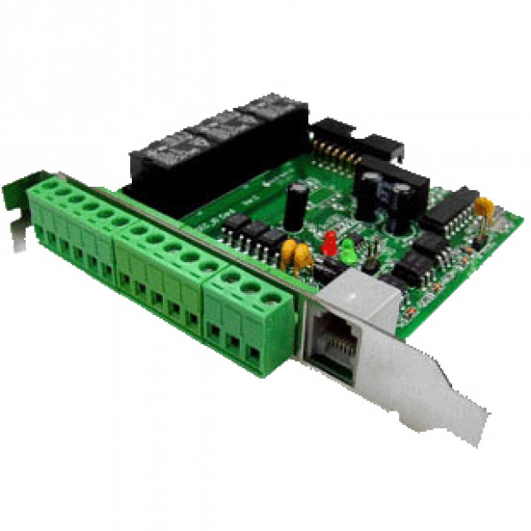 KGuard Digital I/O Board KG-DIO, w/ 4 Relay Inputs, 3 Alarm Outputs, RS485  to RS232 Converter