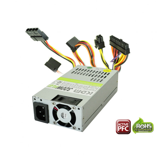 KDM MFX9320H 320W Active PFC Flex ATX Computer Power Supply for HP Pavilion Slimline Systems with mini 24pins and Two 90' SATA Connectors