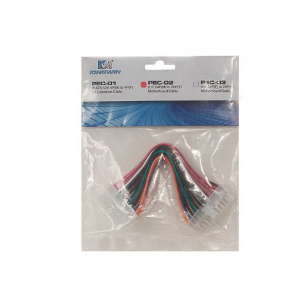 Kingwin 6.5in 24Pin(M) to 20Pin(F) Motherboard Cable