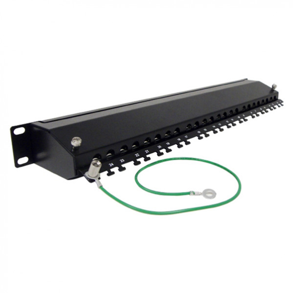 CAT6A Shielded 24 Ports Patch Panel PP2A-4985/24S