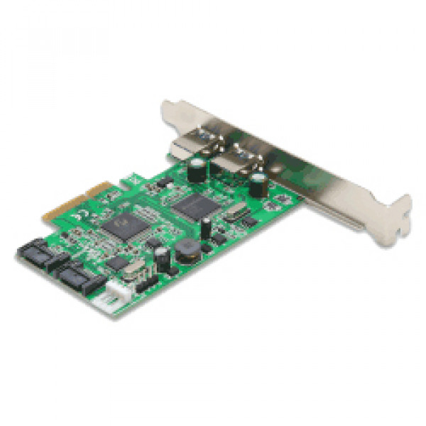 Syba Combo USB 3.0 + SATA III 6Gbps v2.0 PCI Express x4 Slot Controller Card with Standard and Low Profile Brackets