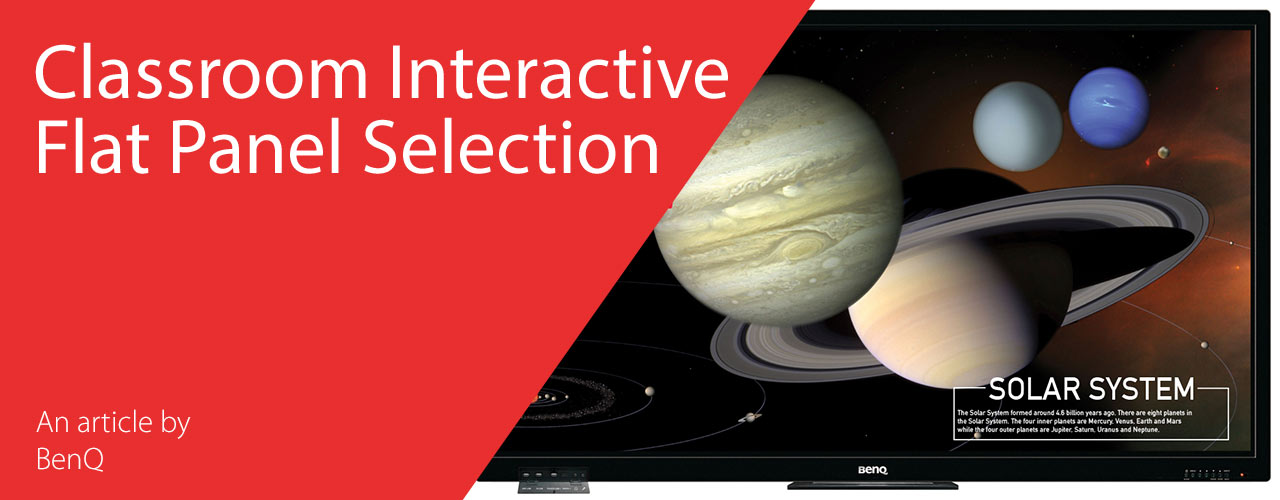 BenQ Classroom Interactive Flat Panel Selection
